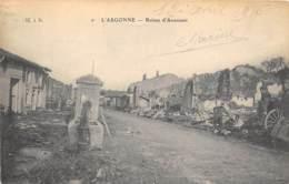 MEUSE  55  AVOCOURT - RUINES - GUERRE 14 18 - France