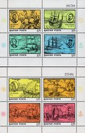 Hungary - 1978 - Explorers And Ships - Set Of 2 Mint Souvenir Sheets - Hongarije