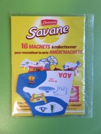 Magnet - Savane Brossard - Carte De L'Amérique Du Nord - Baker Lake - Neuf Sous Blister - Magneti