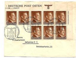 GG160 / GENERALGOUVERNEMENT - Bogenteilfrankatur (8-er Einheit), 2 Jahre NSDAP) Im Besetzten Polen - Occupation 1938-45