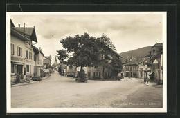 AK Vallorbe, Place De La Liberte, Geschäftsfassaden - VD Vaud