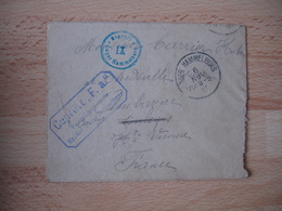 Lot De 4 Hammelburg   Enveloppe Et Lettre Censure Allemande Camp Prisonnier - Marcofilia (sobres)