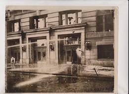 NEBRASKA OMAHA POLICE PROTECTS NEGRO FIRE HOSE COURTHOUSE HUNG MAYOR SMITH 25*20CM Fonds Victor FORBIN 1864-1947 - Lugares