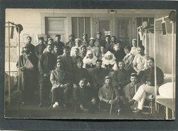 Carte Photo - Militaires, Blessés Et Infirmières - Intérieur D'Hôpital - Weltkrieg 1914-18