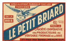 Etiquette Fromage Le Petit Briard - Cheese