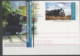 POLAND, 2013, POSTAL STATIONERY, MINT, TRAINS,   PREPAID POSTCARD - Trains