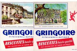 Lot  De 2 Buvards Gringoire. Monuments D'Allemagne. Porta Negra à Trèves Et Château De Ludwigsburg. - Biscottes