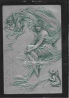 AK 0379  Zauberhafte Fee Mit Engerln - Prägekarte Um 1903 - Engel
