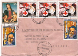 Postal History Cover: Central Africa Cover With Henry Dunant Stamps - Red Cross