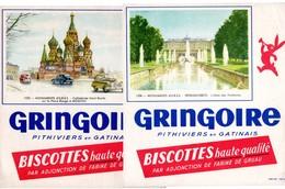 Lot  De 4 Buvards Gringoire. Monuments D'URSS. Cathédrale St.Basile Et Monument De Pouchkine à Moscou. Petrodvorets.... - Biscottes