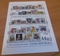CZECH REPUBLIC,2018,MNH, PRAGUE EXHIBITION, STAMP ON STAMP, BIRDS, FISH, BUTTERFLIES, SHEETLET - Briefmarken Auf Briefmarken