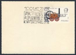 Poland Polska Polen 1976 Karte Card – 100 Jahre ZNTK - Wissenschaftliche Sitzung über Diesellokomotiven, Nowy Sącz - Trains