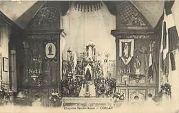 Côtes D Armor -ref-D98- Corlay - Interieur Chapelle Sainte Anne - Chapelles - Carte Bon Etat - - Frankreich