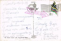 34916. Postal Aerea ANCHORAGE (Alaska) 1973 To Spain, Ferrol - Estados Unidos