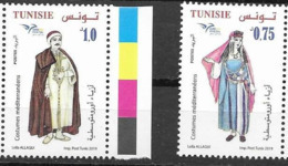 TUNISIA, 2019, MNH, EUROMED, COSTUMES OF THE MEDITERRANEAN, 2v - Costumes