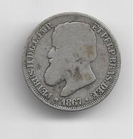 200 Reis D'argent De L'empereur Pierre II Du Brésil 1867 - Brésil
