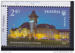 UKRAINE, 2016, MNH, RAILWAY STATION,1v - Trains