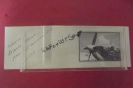 Photo Avion + Mecanicien Carte De Voeux 19525 SMER ROCHEFORT - Publicités