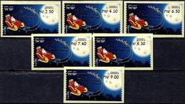ISRAEL 2019 - Christmas - Noël - Natale - Weihnachten - Navidad - Set Of 6 Philatelic Bureau ATM # 001 Labels - MNH - Christmas
