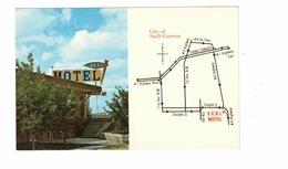 SWIFT CURRENT, Saskatchewan, Canada,  S. C. B. I. Motel & Map, Old Chrome Advertising Postcard - Saskatchewan