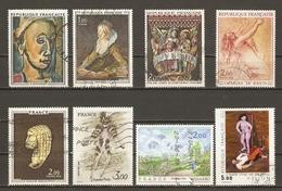 France 1971/84 - Tableaux - Petit Lot De 8° - Pissarro - Fragonard - Rouault - Helion - Charles Le Brun - Chapelain Midy - Postzegels