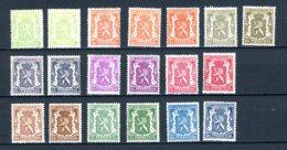 BE   418A - 426a   XX    ---   Toutes Les Nuances  !!    ---    COB : 15 Euros... - 1935-1949 Petit Sceau De L'Etat