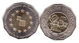 Croatia - 25 Kuna 2004 AUNC / UNC EU Candidate Lemberg-Zp - Croazia