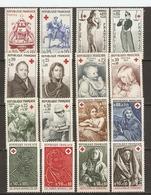 France 1960/73 - Croix-rouge - Petit Lot De 8 Séries Complètes MNH - Vrac (max 999 Timbres)