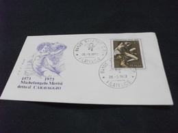 REPUBBLICA ITALIANA F.D.C. ROMA MICHELANGELO MERISI DETTO IL CARAVAGGIO - 6. 1946-.. Repubblica