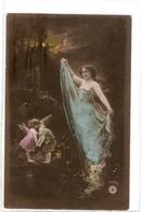 FAN 004  OLD POSTCARD , FEMALE FANTASY , ANGELS , ELFQUEST ,GNOMES - Femmes