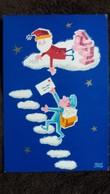 CPSM 1971 PERE NOEL NUAGES FACTEUR LETTRES DESSIN RENE CHAG  PAS  DE SEPARATION CP - Santa Claus