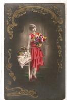 FAN 006  OLD POSTCARD , FEMALE FANTASY , ANGELS , ELFQUEST ,GNOMES - Femmes