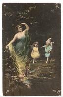 FAN 008  OLD POSTCARD , FEMALE FANTASY , ANGELS , ELFQUEST ,GNOMES - Femmes