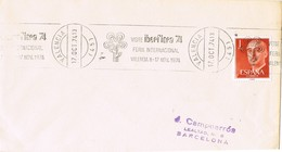 34922. Carta VALENCIA 1974. Rodillo Especial Feria Internacional IBERFLORA - 1931-Hoy: 2ª República - ... Juan Carlos I