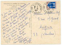 HTE CORSE CP 1967 VIZZAVONA RECETTE DISTRIBUTION B9 AVEC N° DEPARTEMENT DUREE MOINS DE 2 ANS / HAMEAU DE VIVIRIO - 1961-....