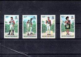 Montserrat Nº 402-05 Uniformes Militares, Serie Completa En Nuevo - Militares