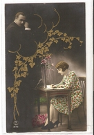 FAN 012  OLD POSTCARD , FEMALE FANTASY , ANGELS , ELFQUEST ,GNOMES - Femmes