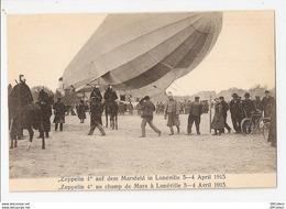 54 Lunéville, Rare Et Inédite Carte Bi-légende. Zeppelin 4 Au Champ De Mars, 3 - 4 Avril 1913  (3171) - Luneville