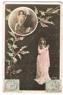 FAN 016  OLD POSTCARD , FEMALE FANTASY , ANGELS , ELFQUEST ,GNOMES - Femmes