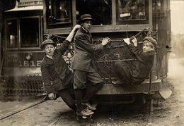 P J PRESS BUREAU PHILADELPHIA  16*12CM Fonds Victor FORBIN 1864-1947 - Trenes