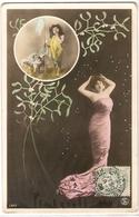 FAN 017  OLD POSTCARD , FEMALE FANTASY , ANGELS , ELFQUEST ,GNOMES - Femmes