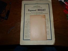 CB15F3   Discours Prononcé Lors Du Décès D'un élève De L'école De Nismes Belgique Raymond Briquet - Oude Documenten