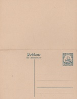 Entier Neuf 5 Pf. Avec Carte Reponse 1912/16 - Colony: German South West Africa