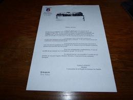 CB15F3   Annonce Inauguration De La Nouvelle Brigade De Gendarmerie De Jemeppe Sur Sambre 1995 - Oude Documenten