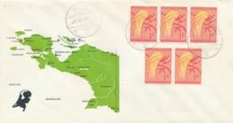 Nederlands Nieuw Guinea - 1961 - LBnr BIAK/3 Op Special Cover Met Landkaart Van NNG - No Address - Netherlands New Guinea