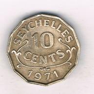 10 CENTS 1971 SEYCHELLEN /9103/ - Seychelles