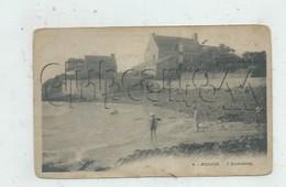 """Hillion (22) : La Villa Bourgeoise """"L'Hostellerie"""" Prise De La Plage Env 1910 (animé) PF. - Frankreich"""