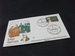 REPUBBLICA ITALIANA F.D.C. FILAGRANO CENTENARIO DELLA RADIO GALVANI 1991 - 6. 1946-.. Repubblica