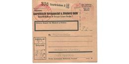 ALLEMAGNE  /  COLIS-POSTAL  /  De Saarbrücken  / Pour Waldheim Post Spittel / 29-1-43 - Storia Postale