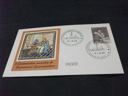 REPUBBLICA ITALIANA F.D.C. ROMA  5° CENTENARIO NASCITA DI FRANCESCO GUICCIARDINI 1983 - 6. 1946-.. Repubblica